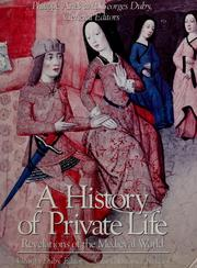 Cover of: A history of private life by Georges Duby