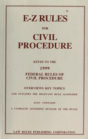 E-Z rules for the federal rules of civil procedure