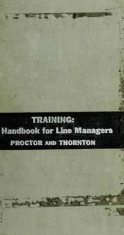 Cover of: Training by John H. Proctor