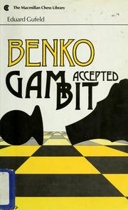 Cover of: Benko gambit | Д–duard Efimovich GufelК№d