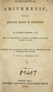 Cover of: Intellectual arithmetic | Warren Colburn