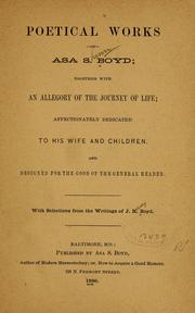 Cover of: Poetical works of Asa S. Boyd | Asa Shinn Boyd