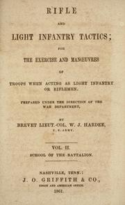 Cover of: Rifle and light infantry tactics by William Joseph Hardee