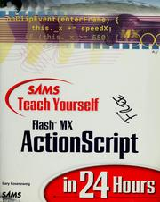 Cover of: Sams Teach Yourself Flash MX ActionScript in 24 Hours | Gary Rosenzweig