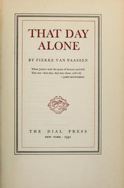 Cover of: That day alone | Pierre Van Paassen