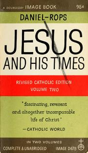 Cover of: Jesus and His times | Henri Daniel-Rops