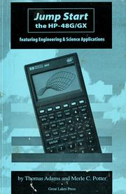 Cover of: Jumpstart the HP-48G/GX featuring engineering & science applications by Adams, Thomas