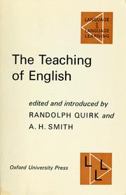 Cover of: The teaching of English | Randolph Quirk