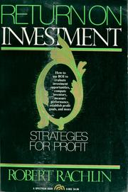 Cover of: Return on investment | Robert Rachlin