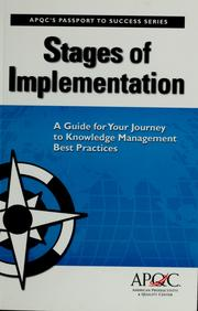 Cover of: Stages of Implementation | Carla O'Dell