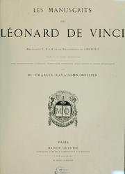 Cover of: Les manuscrits de Léonard de Vinci \ by Leonardo da Vinci