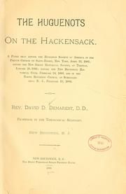 Cover of: The Hugenots on the Hackensack by David D. Demarest