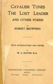 Cover of: Cavalier tunes by Robert Browning
