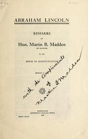 Cover of: Abraham Lincoln | Martin B. Madden