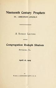 Cover of: Abraham Lincoln by J. Leonard Levy