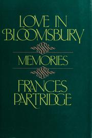 Cover of: Love in Bloomsbury | Frances Partridge