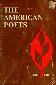 Cover of: The American poets, 1800-1900