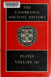 Cover of: The Cambridge ancient history | J. B. Bury