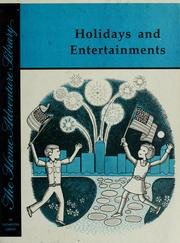 Cover of: Holidays and entertainments /illustrated by Joe Rogers by Barbara Brooks