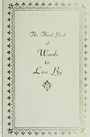 Cover of: The Third book of Words to live by by William Ichabod Nichols