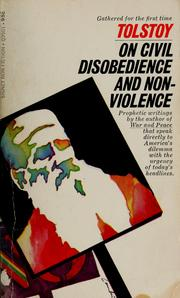 Cover of: Tolstoy's writings on civil disobedience and non-violence by Leo Tolstoy
