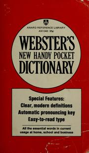 Cover of: Webster's new handy pocket dictionary by
