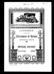 Cover of: Catalogue abrégé d'instruments de musique by Arthur Lavigne (Firme)