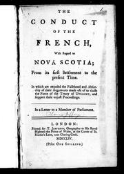 Cover of: The conduct of the French with regard to Nova Scotia by Thomas Jefferys