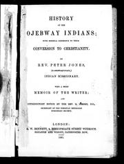 Cover of: History of the Ojebway Indians | Jones, Peter