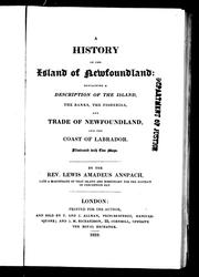 Cover of: A history of the island of Newfoundland | Lewis Amadeus Anspach