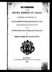 Cover of: The productions of the Ottawa district of Canada | Edward Van Cortlandt