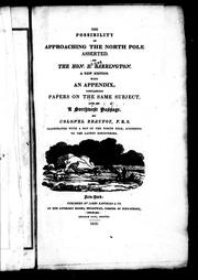 Cover of: The possibility of approaching the North Pole asserted | Daines Barrington