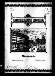 Cover of: Richelieu Hotel |
