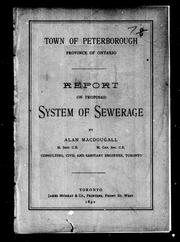 Cover of: Town of Peterborough, province of Ontario | Alan MacDougall