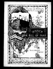 Cover of: Dinner, bill of fare by Walker House