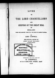 Cover of: Lives of the lord chancellors and keepers of the great seal of England | Campbell
