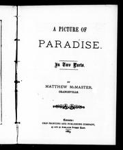 Cover of: A picture of paradise by Andrew McMaster