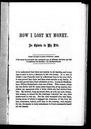 Cover of: How I lost my money by A. Gugy