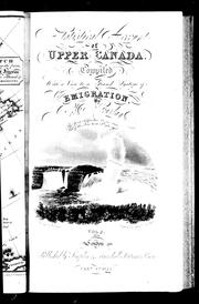 Cover of: Statistical account of Upper Canada | Robert Gourlay