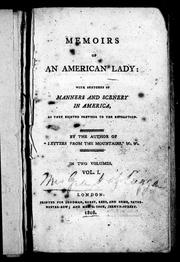 Cover of: Memoirs of an American lady | Anne Grant