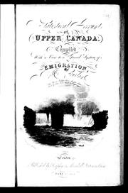 Cover of: Statistical account of Upper Canada by Robert Gourlay