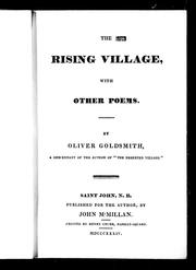 Cover of: The rising village, with other poems by Goldsmith, Oliver