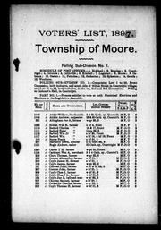 Cover of: List of voters of the municipality of the township of Moore in the county of Lambton by Moore (Ont.)