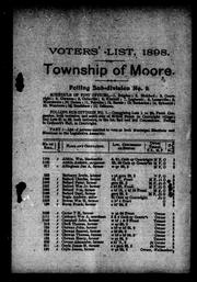 Cover of: List of voters of the municipality of the township of Moore in the county of Lambton | Moore (Ont.)