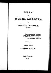 Cover of: Resa i Norra Amerika | Carl August Gosselman
