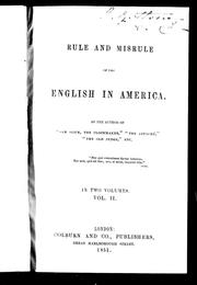 Cover of: Rule and misrule of the English in America | Thomas Chandler Haliburton