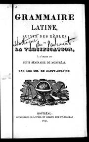 Cover of: Grammaire latine by Sulpiciens