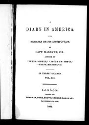 Cover of: A diary in America by Frederick Marryat