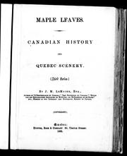 Cover of: Maple leaves | Le Moine, J. M. Sir