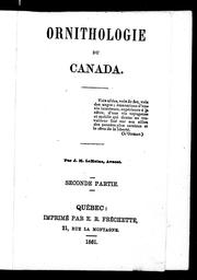 Cover of: Ornithologie du Canada by Le Moine, J. M. Sir
